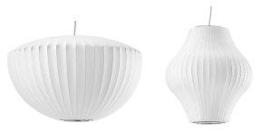 "Here are the two lights we found for the kitchen and entryway. Lights are my personal ""put a bird on it."" I just want to put one of these lights in every room in my house."